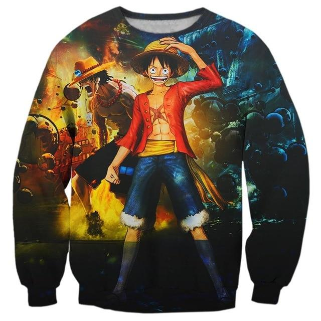 Pull One Piece Luffy et Portgas D Ace