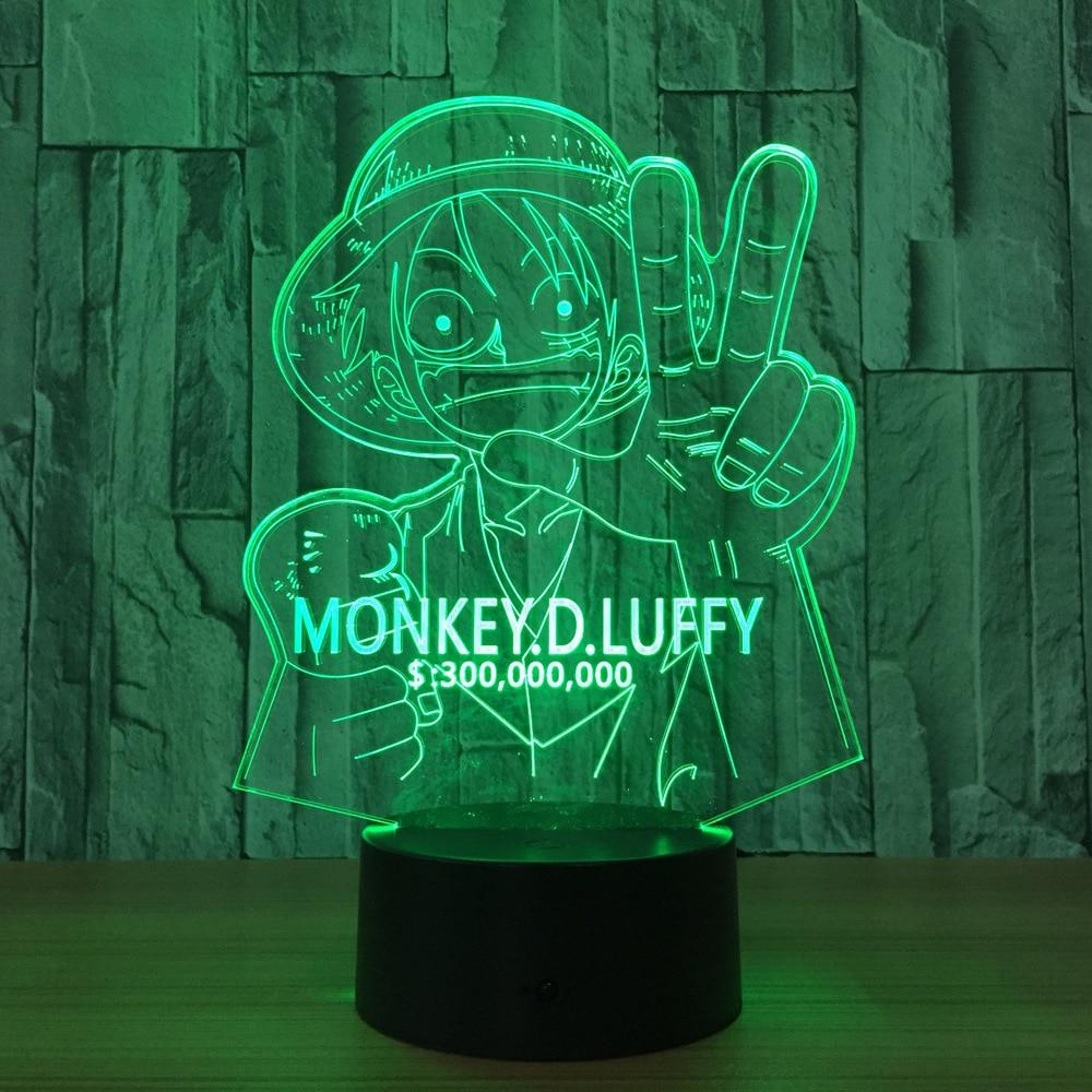 Lampe Acrylique One Piece Luffy Wanted