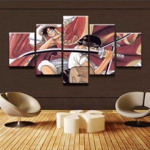 Tableau One Piece Roronoa Zoro et Luffy
