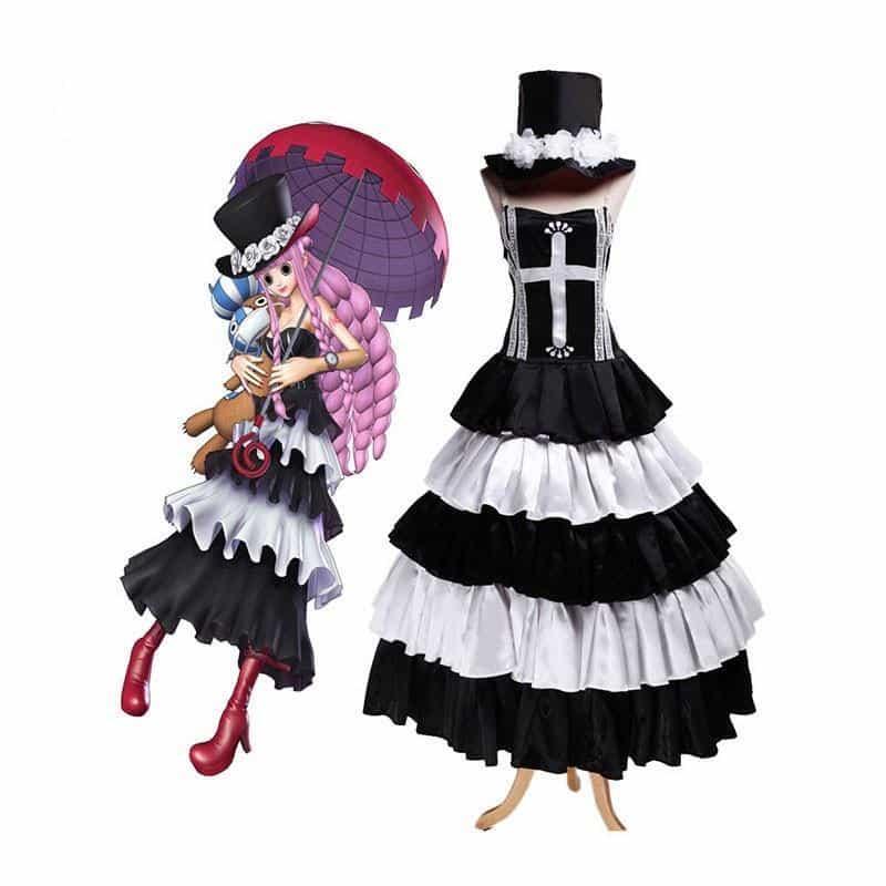 Déguisement One Piece Perona Noir et Blanc