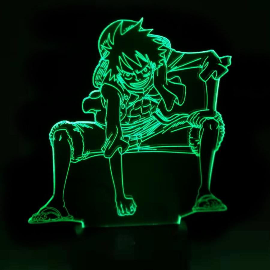 Lampe Acrylique One Piece Monkey D. Luffy