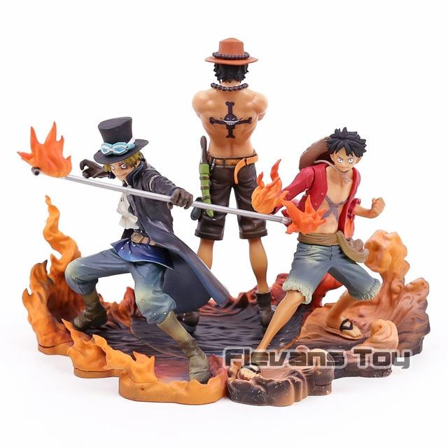 Figurine One Piece Luffy Ace et Sanji
