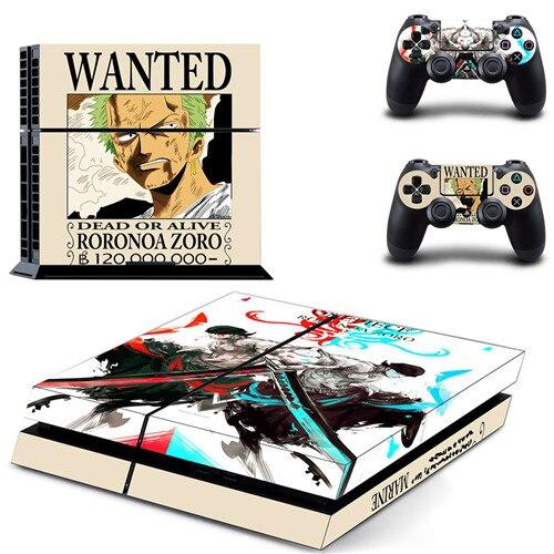 Stickers PS4 One Piece Roronoa Zoro Wanted