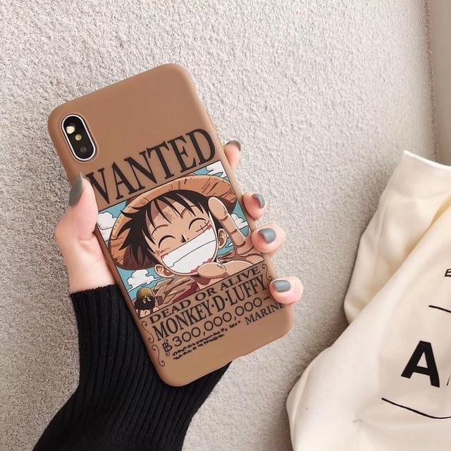 Coque One Piece Iphone Luffy Wanted