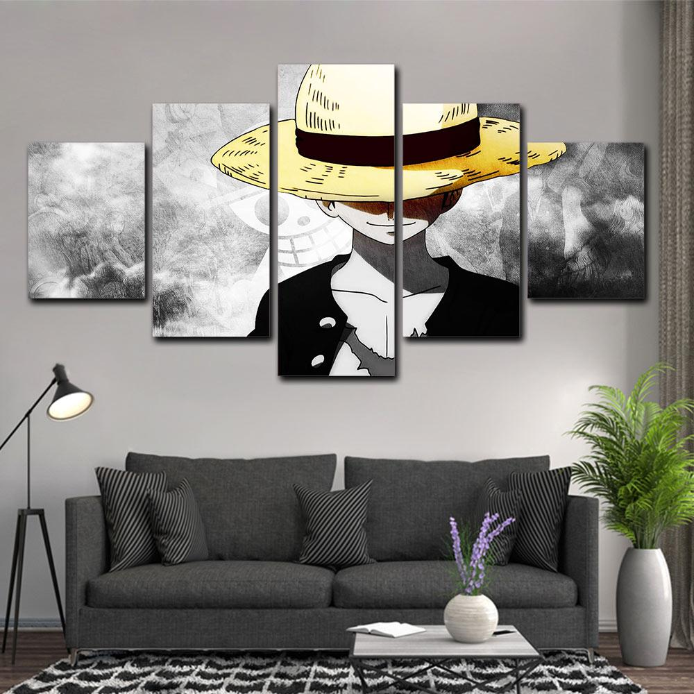 Tableau One Piece Luffy Chapeau de Paille