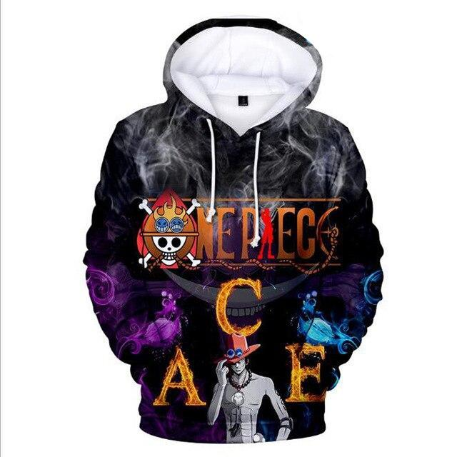 Sweat One Piece Ace et Barbe Blanche