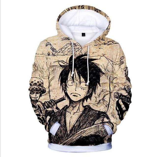 Sweat One Piece Trafalgar et Luffy