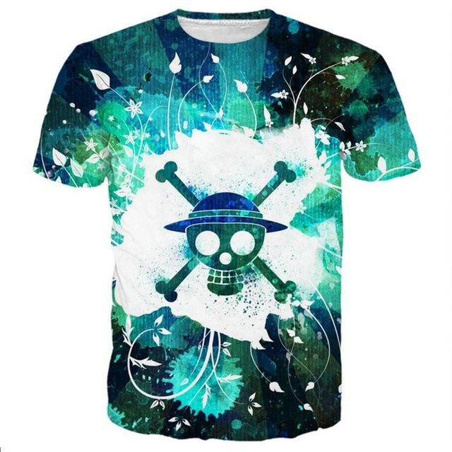Tee Shirt One Piece Jolly Roger Mugiwara