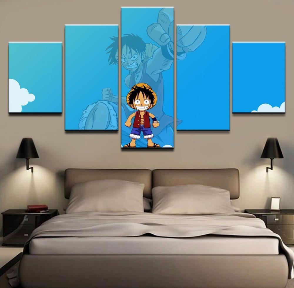 Tableau One Piece Luffy Enfance