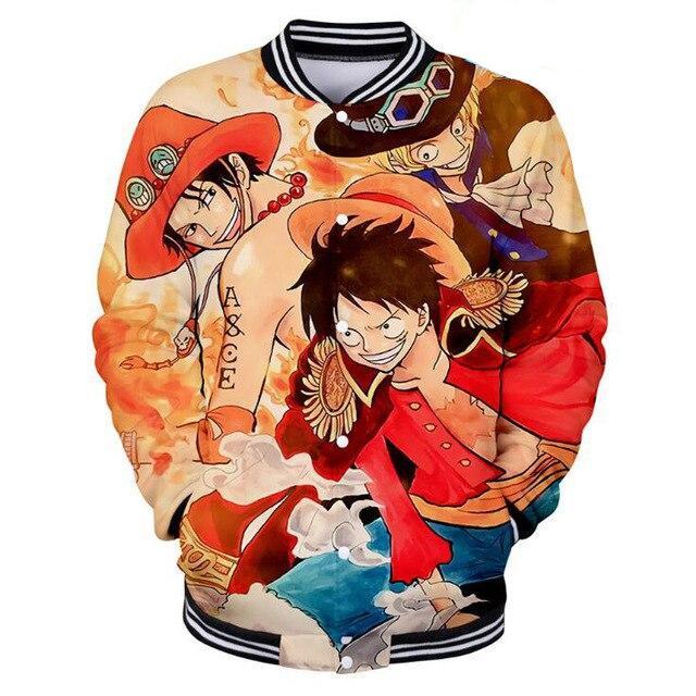Veste Teddy One Piece Luffy et Portgas