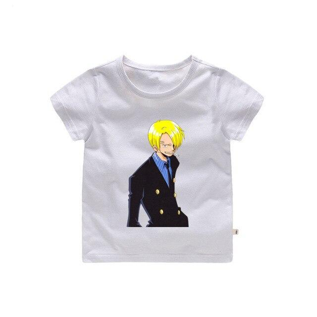 T-Shirt One Piece Enfant Sanji (Jaune)