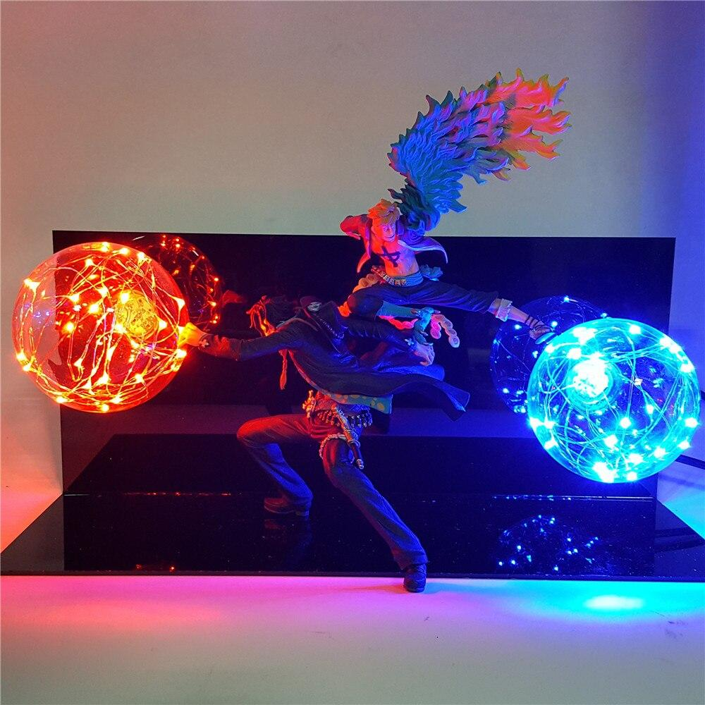 Figurine LED One Piece Portgas D. Ace et Marco