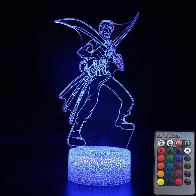 Lampe Acrylique One Piece Roronoa Zoro