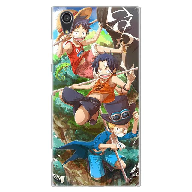 Coque One Piece Sony Luffy Ace et Sabo