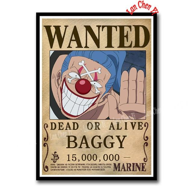 Sticker One Piece Baggy Wanted