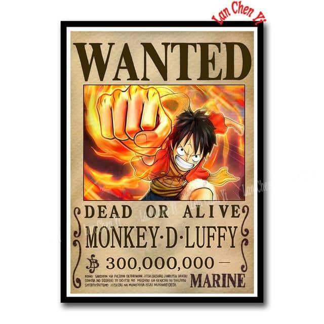 Sticker One Piece Luffy Wanted
