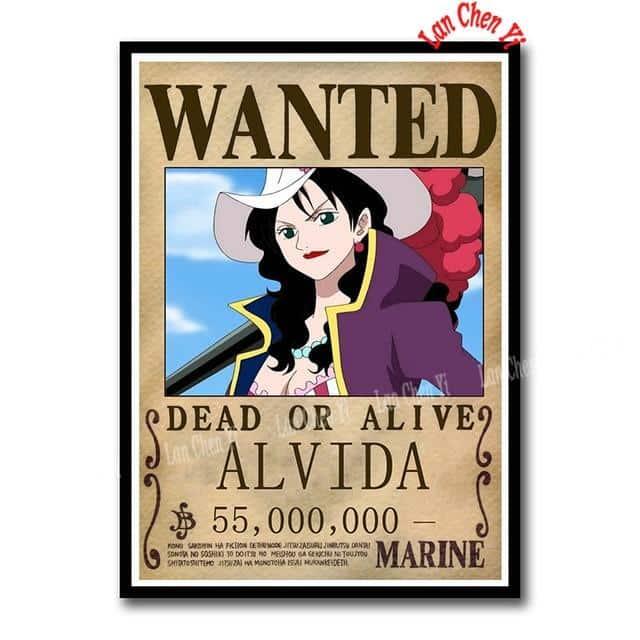 Sticker One Piece Alvida Wanted