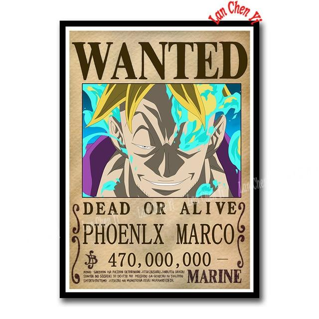 Sticker One Piece Marco Wanted