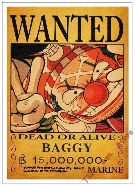 Poster One Piece Baggy Wanted