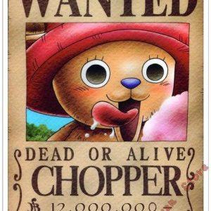Poster One Piece Tony Tony Chopper Wanted