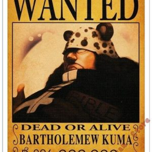 Poster One Piece Bartholomew Kuma Wanted