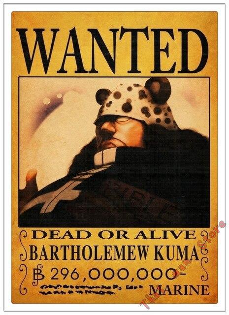 Poster One Piece Bartholomew Kuma Wanted
