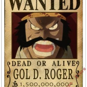 Poster One Piece Gol D. Roger Wanted