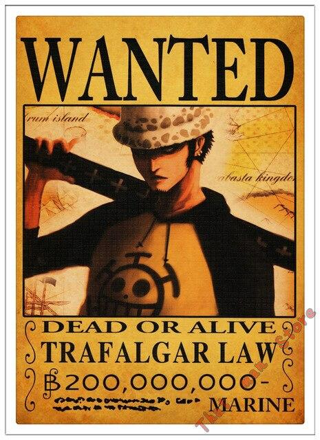 Poster One Piece Trafalgar D. Law Wanted