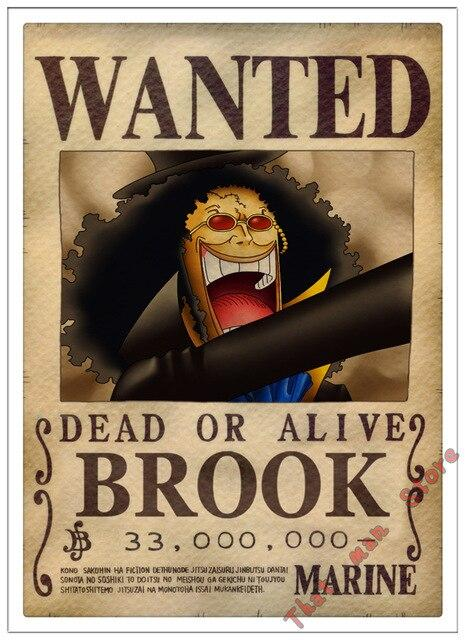 Poster One Piece Brook Wanted