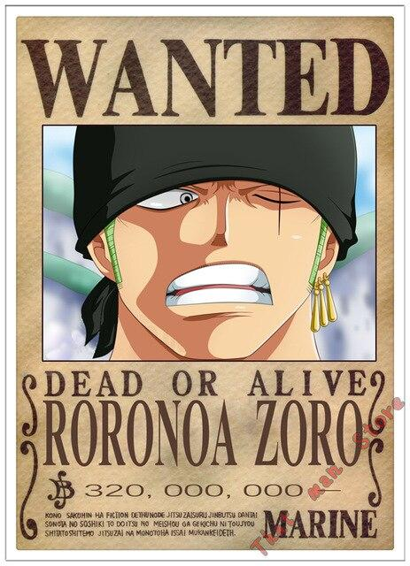 Poster One Piece Roronoa Zoro Wanted