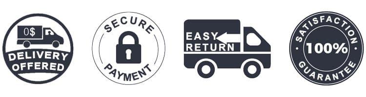 Badges de paiements sécurisés